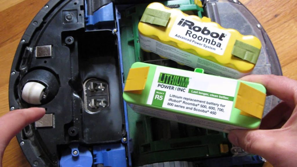 замена аккумулятора робота пылесоса